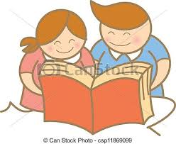 kids reading open book
