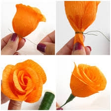 How To Make Flower Using Crepe Paper Diy Project Autumn Wedding How To Make Paper Flowers Part 2