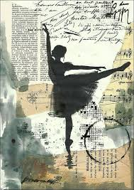 print art poster mixed a art sketch collage painting ilration gift ballet autographed emanuel m