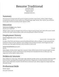 Traditional Resume Example Examples Of Resumes