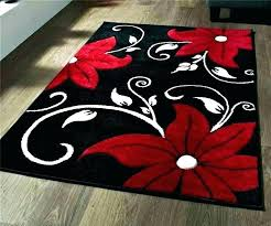red area rugs 5x7 rug target round fl home er and black red area rugs 5x7