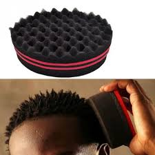 sponge brush. 32 holes magic twist hair curl sponge brush coil wave for natural