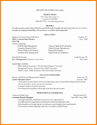 Mba Resume Sample Mba Resume Template Free Samples Examples