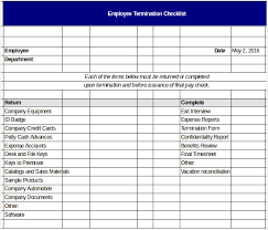 Termination Checklist Templates – 16+ Free Word, Excel, Pdf ...