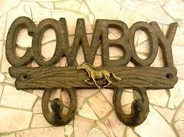 Cowboy Coat Rack Awesome Amazon Equestrian Wall Décor Cowboy Iron Backpack Hook Key