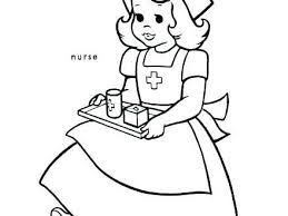 Male Nurse Coloring Pages Scootershd Wallpaperscf