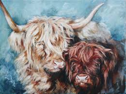 Highland Cow Art limited edition prints by Hilary Barker at Mid Torrie Farm  Callander in Scotland. - Highland Co… | Highland cow art, Cow art, Highland  cow painting