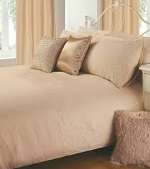 latte beige colour plain duvet cover microfiber embossed design bedding set