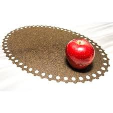 placemats for round dining table pvc brown round dining table placemat rs 500 pack fantasia inc