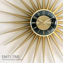 mid century design wall clock clock clock nordic mid century retro clock wall clock modern stylish interior presence wall clock emits time