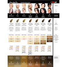 Phibrows Color Chart Pmu Pigment Collection Tina Davies Canada In 2019 Grey