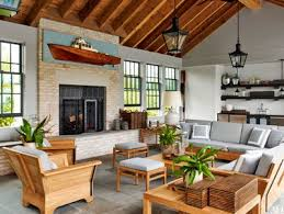Pool house furniture Bunny Williams Cozy Poolhouse Sitting Area Architectural Digest 22 Poolhouse Ideas Design Inspiration Architectural Digest