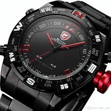 shark sport watches led black stainless steel band date alarm red shark sport watches led black stainless steel band date alarm red running analog quartz military male