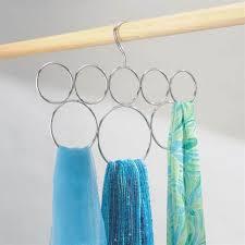 view in gallery hanging loop scarf holder
