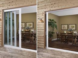 sliding glass doors that slide into the