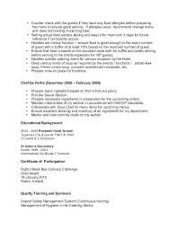 Culinary Cover Letter Download By Culinary Arts Instructor Cover