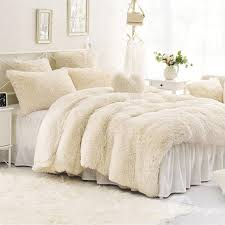 62 solid creamy white super soft 4 piece fluffy bedding sets duvet cover