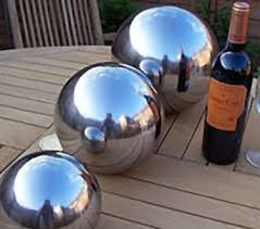stainless steel gazing globes