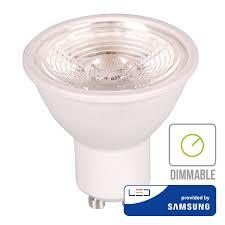 V Tac Dimmable Gu10 Led Light 5 Watt 3000k Samsung Replaces 40w