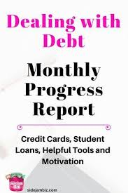 Getting Paid Monthly Debt Repayment Tracking Month One Getting Started Debt Relief