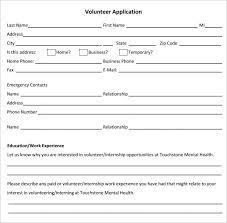 free application templates sample volunteer application form template volunteer application