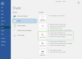 Day 322 Share A Copy Or Pdf Your Document By Email In Microsoft