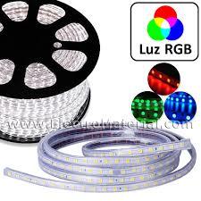 <b>LED</b> strip <b>220V</b> direct to RED <b>5050</b> - IP65 RGB light - ElectroMaterial