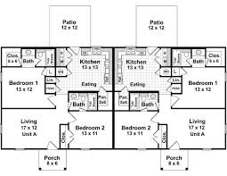 The Duplex   Bedrooms and   Baths   The House Designers st Level Floorplan