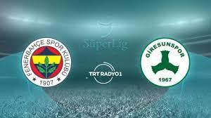 Fenerbahçe'nin konuğu Giresunspor - Son Dakika Haberleri