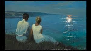 Risultati immagini per chiaro di luna sul mare con innamorati