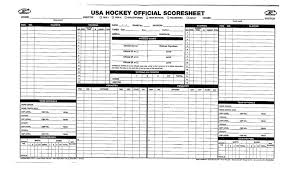 Hockey Score Sheet Officially Speaking The AllImportant Score Sheet 2