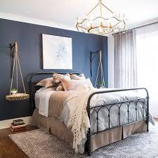 A Hale Navy HC 154 Accent Wall Creates A Beautiful Contrast With Wickham  Grayu2026
