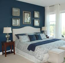 Astounding Design Of The Bedroom Paint Color Ideas With Blue Wall Ideas  Added With White Curtain