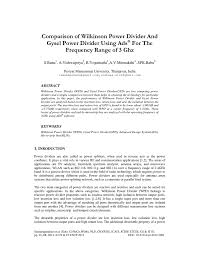 Wilkinson Power Combiner Design Comparison Of Wilkinson Power Divider And Gysel Power