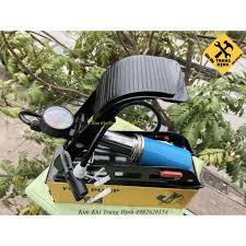 Bơm Hơi Đạp Chân Đa Năng Mini Cho Ô Tô Xe Máy 1 Ống Bình Xanh - UIssNQZS2T  | Lốp xe