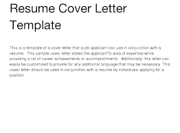 General Employment Cover Letter A General Cover Letter For Job Application