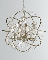 solaris 5 light crystal silver sphere chandelier