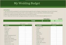 budget planner excel template wedding budget planner excel templates for every purpose