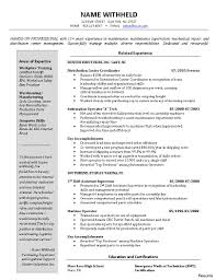 Machinery And Device Sales Manager Resume Inventory Control