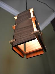 wood lighting. Beautiful Square Wooden Pendant Light This Is A Simplistic But Light. With Classic Lines From The Craftsman Era, Stunning Wood Lighting