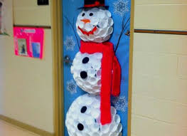 winter classroom door decorations. Contemporary Classroom Snowman Says To Recycle For Winter Classroom Door Decoration Decorations E