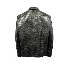black full alligator jacket