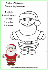Small Picture Santa Claus Colouring Pages