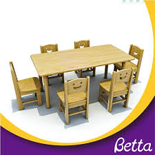 kindergarten study kids wooden tables chair sets