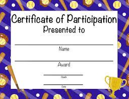 Free Softball Certificates To Print Beyin Brianstern Co