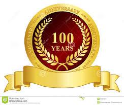 Anniversary Ribbon 100 Year Anniversary Stamp With Ribbon Illustration 39007007 Megapixl