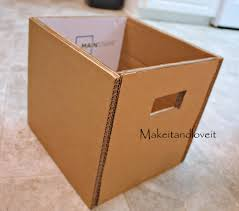 craft room part 1 covered cardboard storage boxes make it and love it