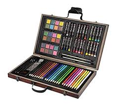 coloring sets. Delighful Sets CONDA And Kiddy Color Deluxe Wood Art Set For Kids In Wooden Case A199297  Painting In Coloring Sets C