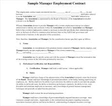 sample of contracts 12 employment contracts for restaurants cafes and