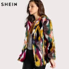 shein women elegant fur coats